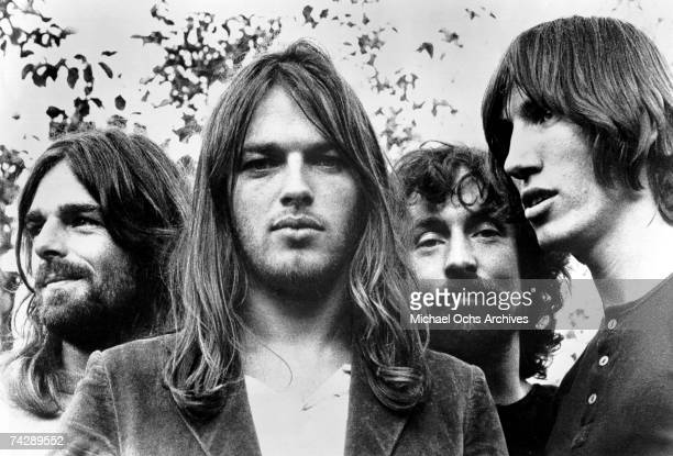 Pink Floyd pose for a publicity still circa 1973