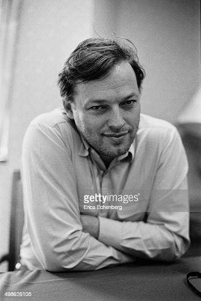 Pink Floyd singer and guitarist David Gilmour is interviewed around the release of his solo album 'About Face', UK,1984.
