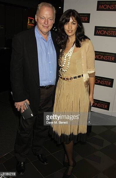 Pink Floyd's David Gilmour and his wife Polly Samson attend the UK premiere of Monster at Vue West End on March 31 2004 in London