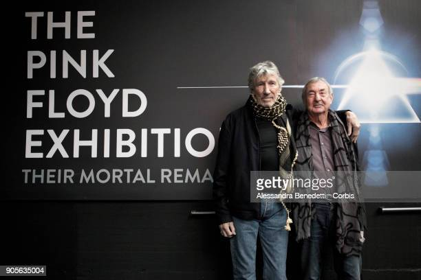 Pink Floyd's founding members Nick Mason and Roger Waters attended the opening of The Pink Floyd Exhibition Their Mortal Remains at Rome's MACRO...