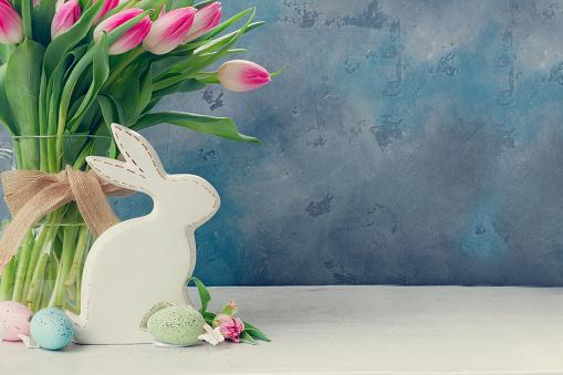 Pink fresh tulips 1127136989