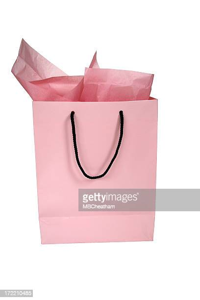 Pink Geschenketasche-isoliert