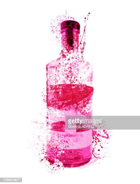 pink gin illustration - pattern stock pictures, royalty-free photos & images