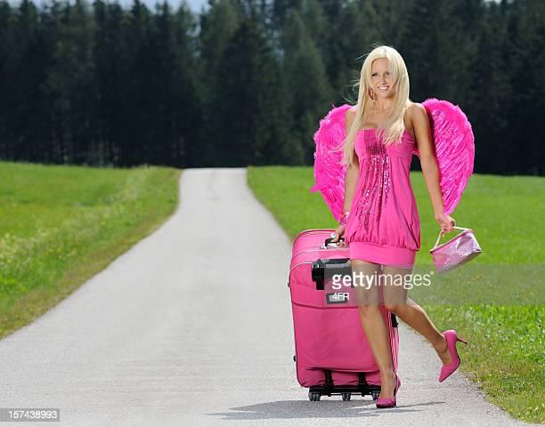 Rose Glamour Angel de marcher dans la rue, Sexy Pin-Up (XXXL