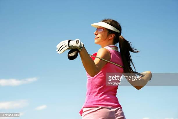 ピンクのゴルファーリラックス
