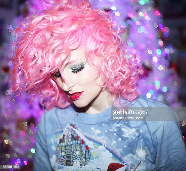 Pink hair at Christmas