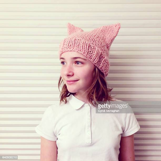 pink hat - pink hat stock pictures, royalty-free photos & images
