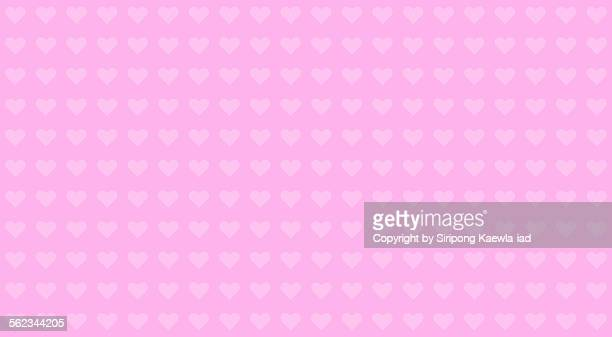 Pink heart pattern background