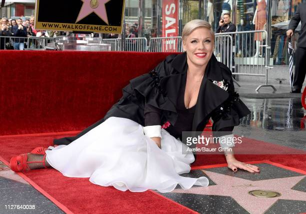 Pink is honored with Star on the Hollywood Walk of Fame on February 05 2019 in Hollywood California