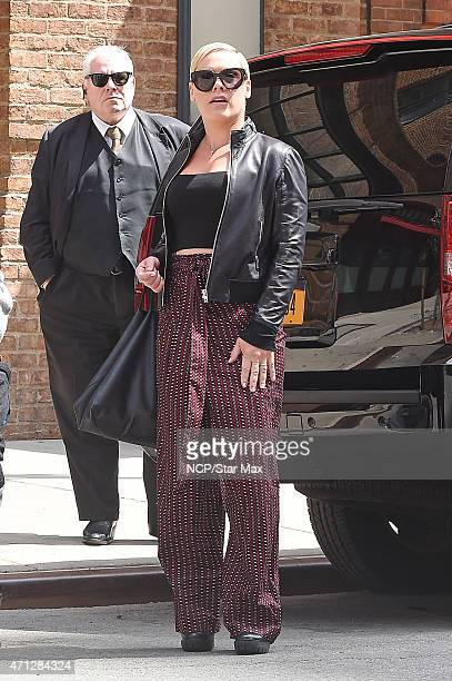 Pink is seen on April 26 2015 in New York City