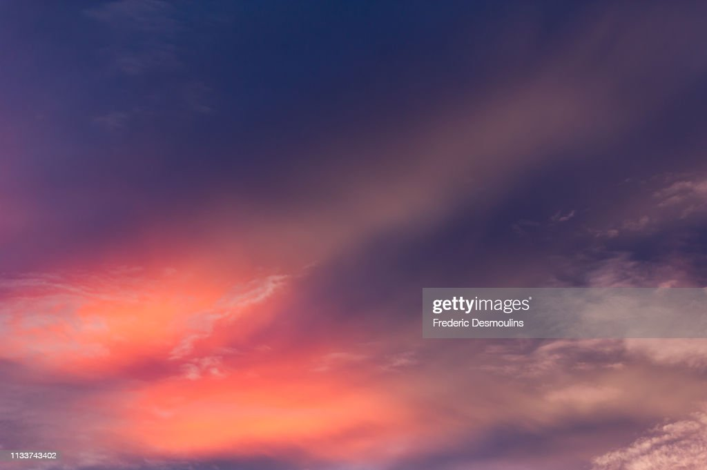 Pink light in the sky : Stock Photo