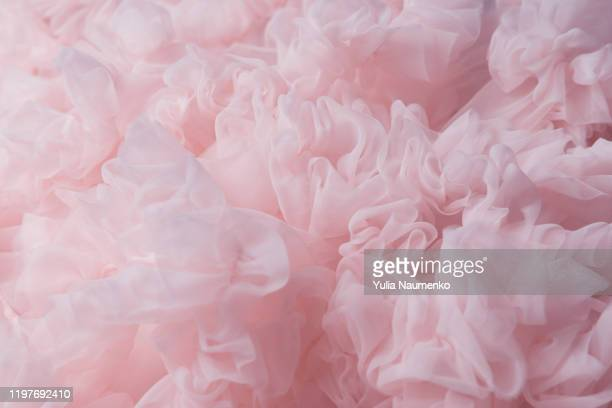 pink lightweight fabric mesh, texture of the fabric, beautifully draped background. - シフォン ストックフォトと画像