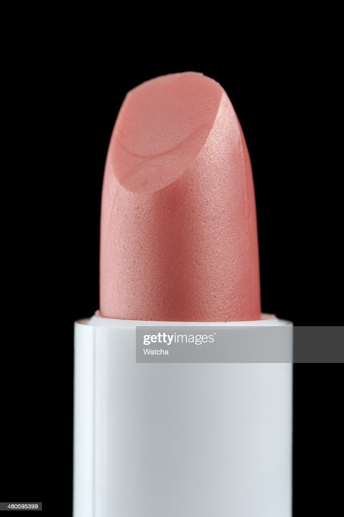 Pink Lip Care Stick on Black Background : Stock Photo