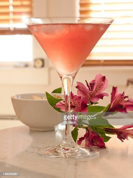 Pink martini with flower
