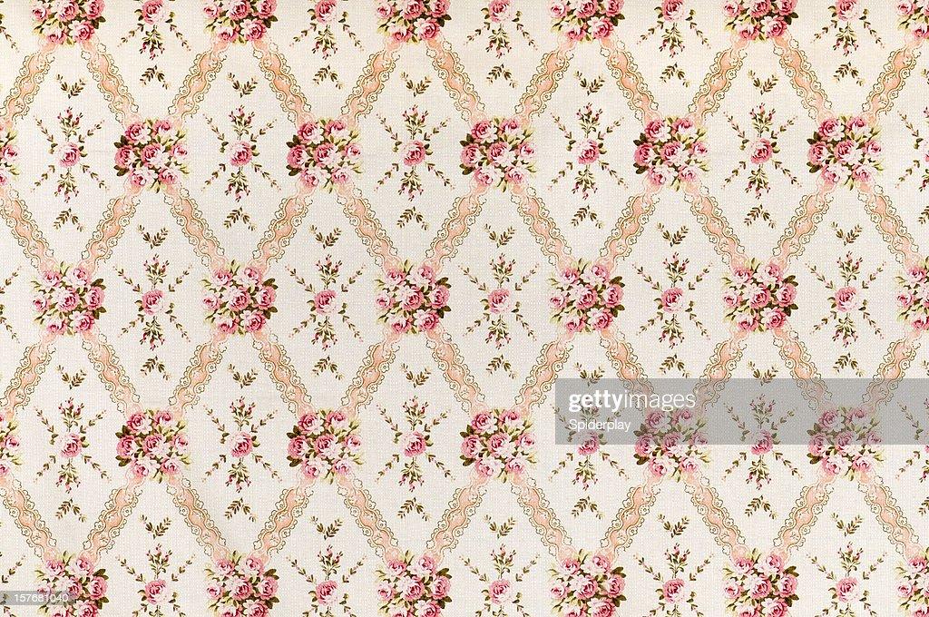 Meadow 中アンティークピンクの花柄ファブリック : ストックフォト