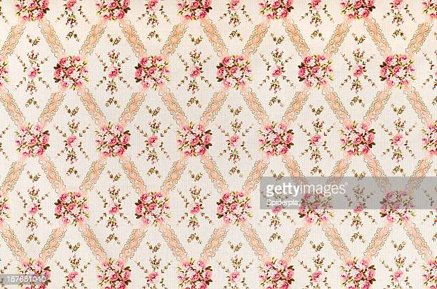 Pink Meadow Medium Antique Floral Fabric