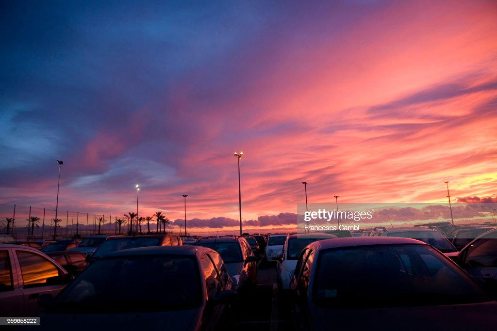 Pink painted sunset sky : Stock-Foto