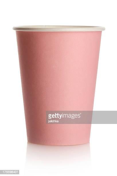 ピンクの紙コップ