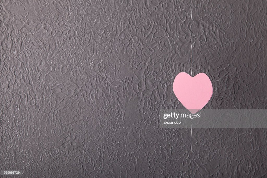 Pink paper Saint Valentines hearts : Stock Photo