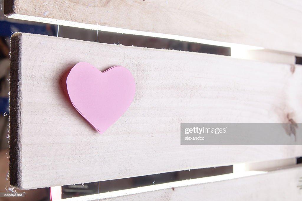 Pink paper Saint Valentines hearts : Stock Photo