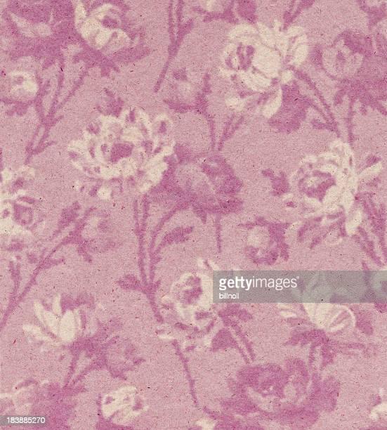 ピンクの紙に花柄