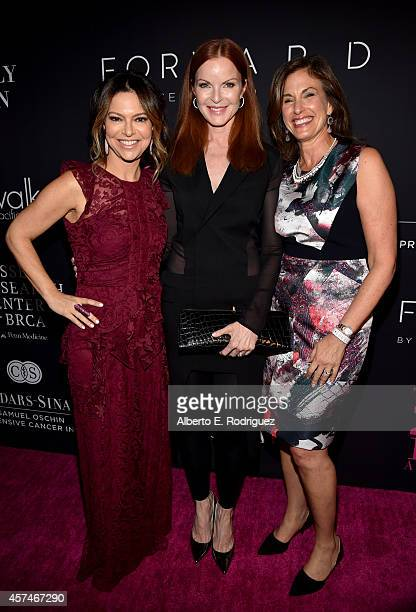 Pink Party founder Elyse Walker actress Marcia Cross and Dr Beth Karlan MD Director of the Women's Cancer Program at the CedarsSinai Samuel Oschin...