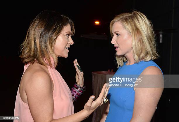 Pink Party Founder Elyse Walker and actress Jessica Capshaw attend Elyse Walker Presents The Pink Party 2013 hosted by Anne Hathaway at Barker Hangar...