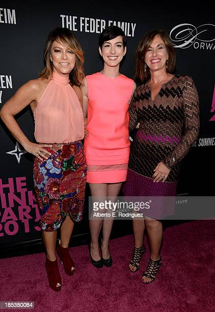 Pink Party Founder Elyse Walker host Anne Hathaway and Dr Beth Y Karlan MD Director of CedarsSinai Women's Cancer Program attend Elyse Walker...