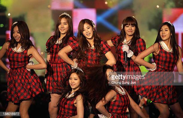 Pink perform on stage during the MBC Music Festival at Olympic Hall on January 31 2012 in Seoul South Korea