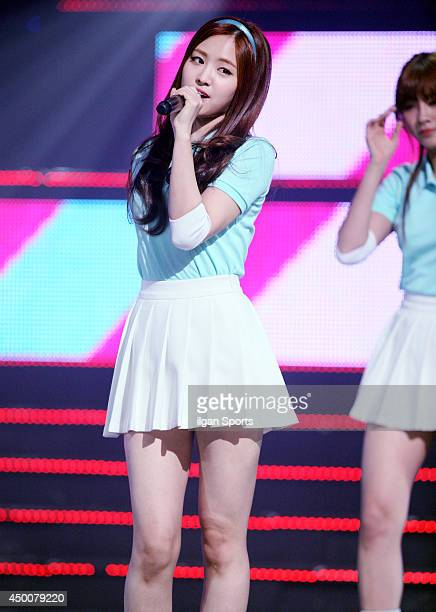 A pink perform onstage during the Mnet 'M Count Down' at CJ EM Center on May 22 2014 in Seoul South Korea