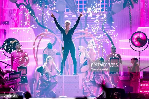 Pink performs at Brisbane Entertainment Centre on August 14, 2018 in Brisbane, Australia.