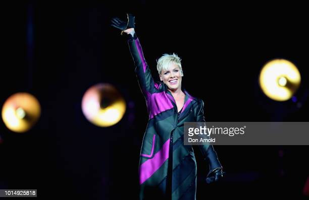 Pink performs at Qudos Bank Arena on August 11 2018 in Sydney Australia