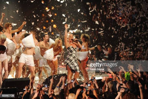 Pink performs at the 2008 MTV Europe Music Awards held at at the Echo Arena on November 6 2008 in Liverpool England