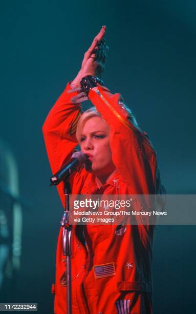 Pink performs at the Warfield in San Francisco.
