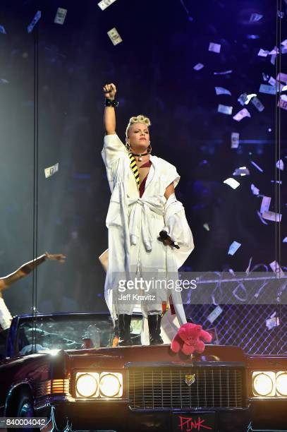 Pink performs during the 2017 MTV Video Music Awards at The Forum on August 27 2017 in Inglewood California