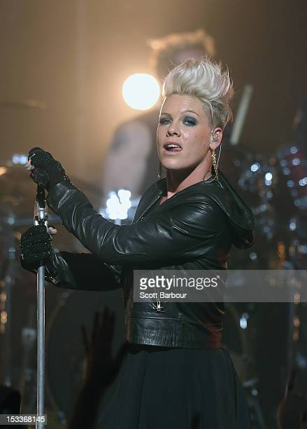 Pink performs for fans at The Forum Theatre on October 4 2012 in Melbourne Australia Pink is in Australia promoting her latest album The Truth About...