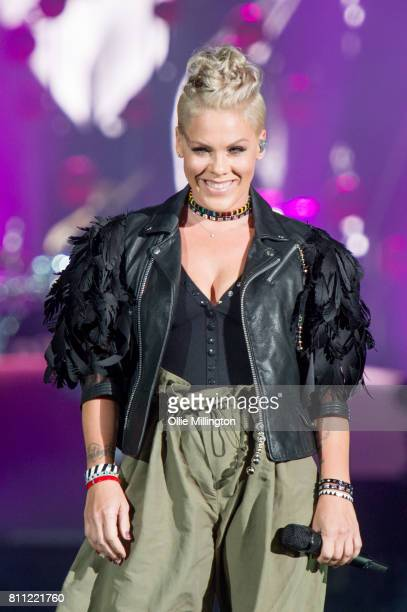Pink performs for the 2nd time after a 4 year break from live shows to headline Day 3 of the Festival D'ete De Quebec on the Main Stage at the...