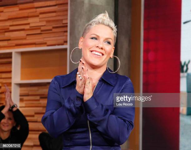 "Pink performs live on ""Good Morning America,"" Monday, October 16 airing on the Walt Disney Television via Getty Images Television Network. PINK"