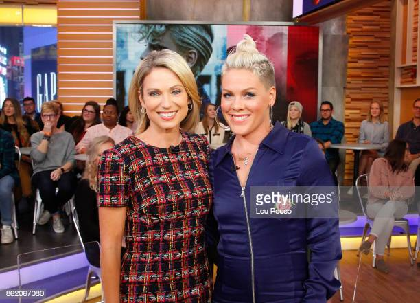 AMERICA Pink performs live on Good Morning America Monday October 16 airing on the Walt Disney Television via Getty Images Television Network AMY