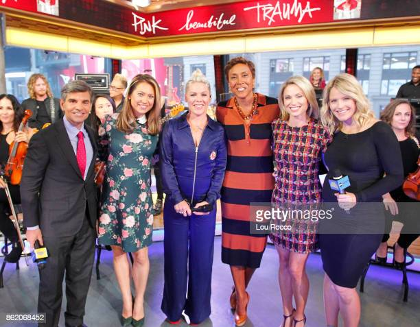 AMERICA Pink performs live on 'Good Morning America' Monday October 16 airing on the ABC Television Network GEORGE