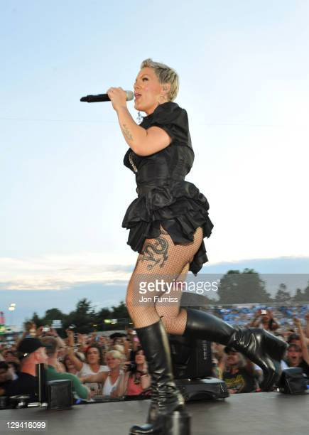 Pink performs on day 1 of the Barclaycard Wireless Festival at Hyde Park on July 2 2010 in London England