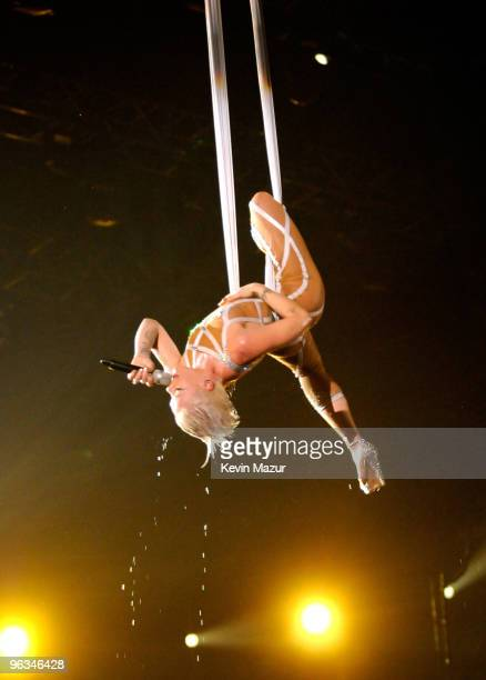 Pink performs onstage at the 52nd Annual GRAMMY Awards held at Staples Center on January 31 2010 in Los Angeles California