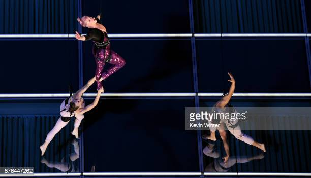 Pink performs onstage during the 2017 American Music Awards at Microsoft Theater on November 16 2017 in Los Angeles California This was a pretape...