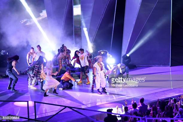 Pink performs onstage during the 2017 MTV Video Music Awards at The Forum on August 27 2017 in Inglewood California