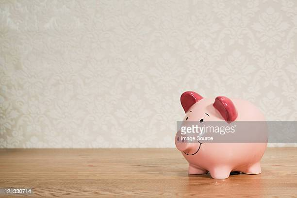 pink piggy back - piggy bank stock photos and pictures