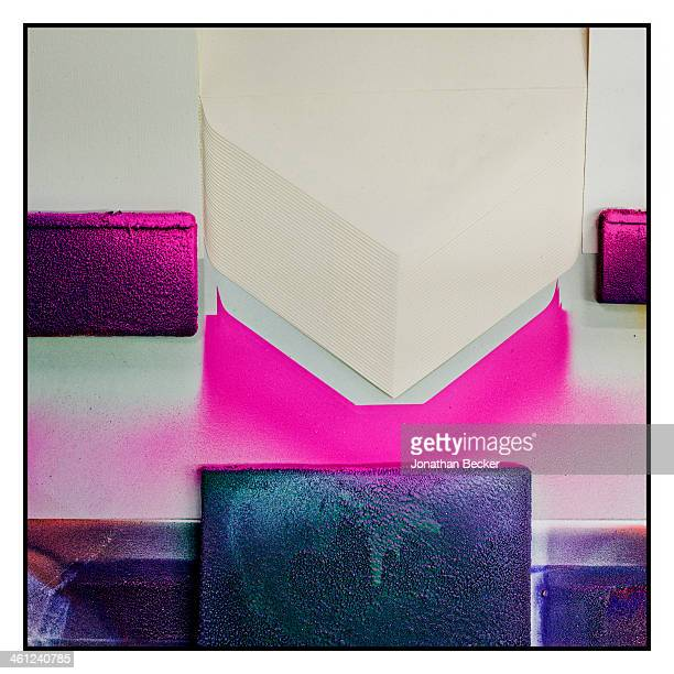 Pink pigment is photographed for Town & Country Magazine on July 2, 2012 at Smythson factory in Wiltshire, England. PUBLISHED IMAGE.