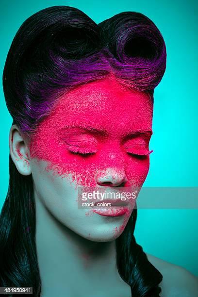 pink powder makeup
