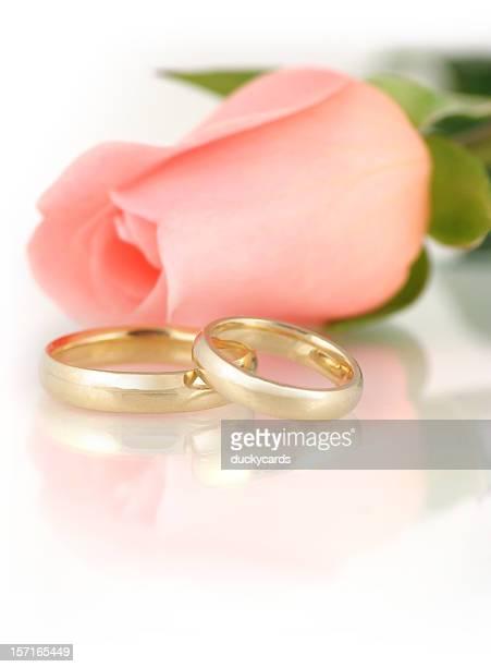 Pink Rose & Wedding Bands