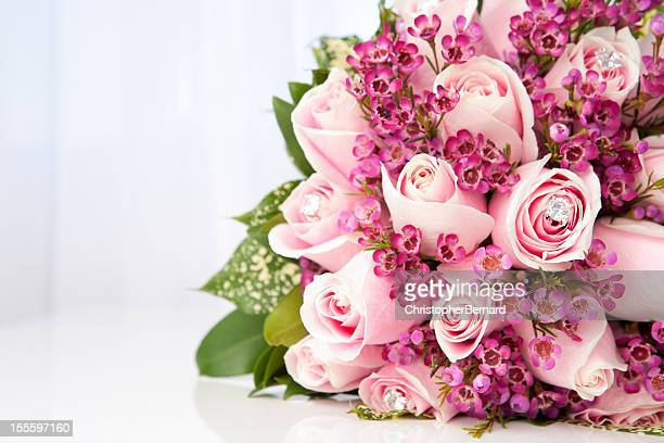 Rose rosa bouquet da sposa