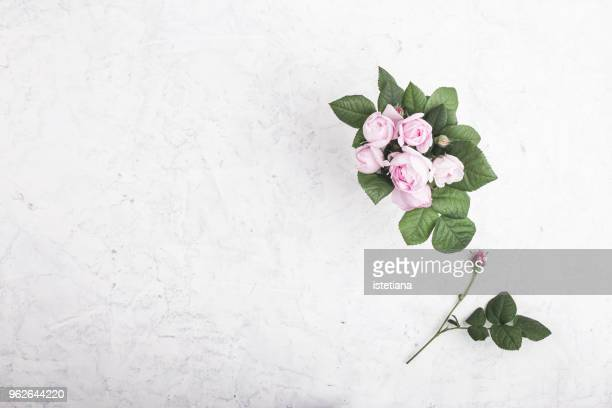 pink roses in vase - wedding background stock pictures, royalty-free photos & images